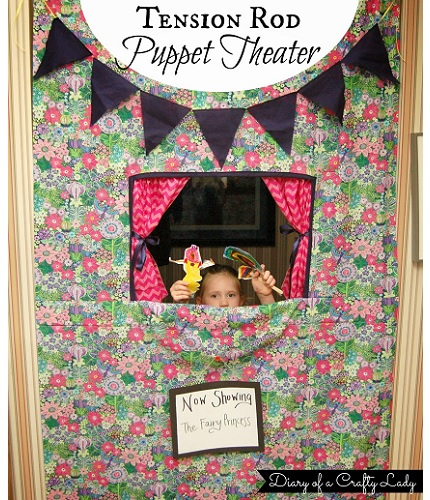 Tutorial: Tension rod puppet theater you can hang in a doorway