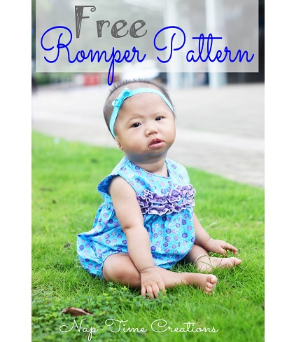 Free pattern: Sleeveless baby romper