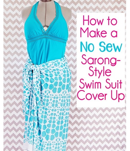 Tutorial: Sarong swimsuit cover up, no sewing required