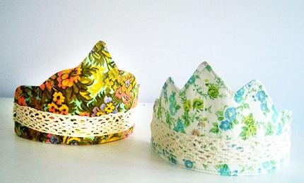 Tutorial: Child's fabric crown, plus 6 free templates