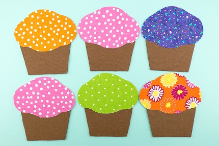 Tutorial: Cupcakes fabric matching game