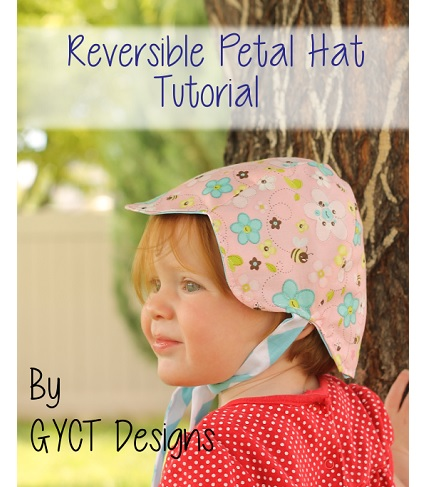 Tutorial: Reversible petal hat for baby