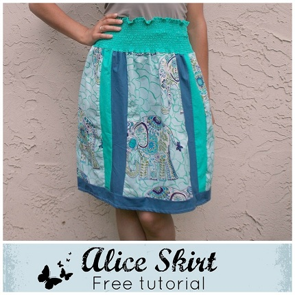 Tutorial: Alice panel skirt with a shirred waistband