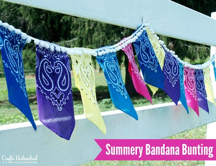 Tutorial: Summery Bandana Bunting