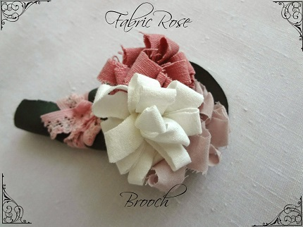 Tutorial: Loopy fabric flower brooch