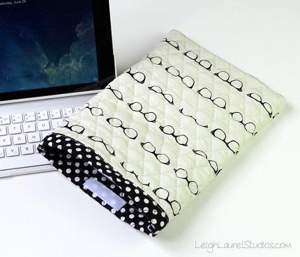 Tutorial: Quilted cotton iPad sleeve