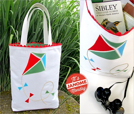 Tutorial: Appliqued kite tote bag