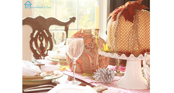 Tutorial: Plastic pumpkins made pretty with fabric
