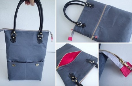Grey-zipper-top-tote