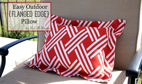 Tutorial: Easy outdoor flanged pillow