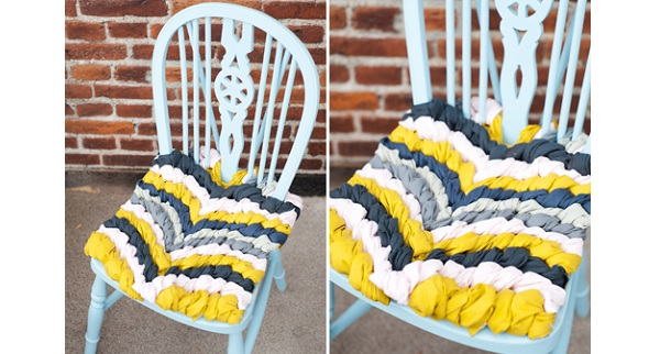 Tutorial: Friendship bracelet chair cushion