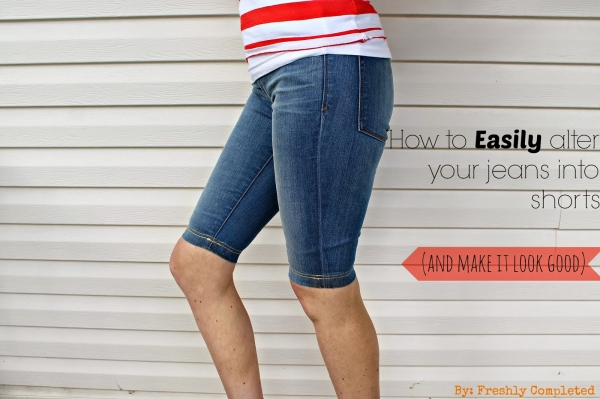 Tutorial: DIY jeans shorts with a finished hem