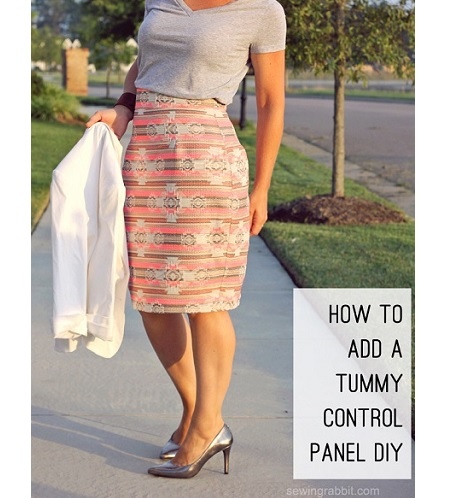 Tutorial: Add a tummy control panel to a skirt