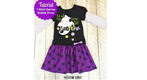 Tutorial: Little girls t-shirt overlay bubble dress