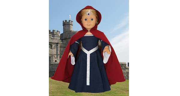 Tutorial: Medieval cape for an American Girl doll