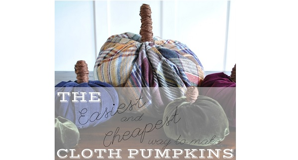 Tutorial: Inexpensive DIY fabric pumpkins