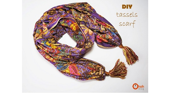 Tutorial: Gathered and tasseled scarf