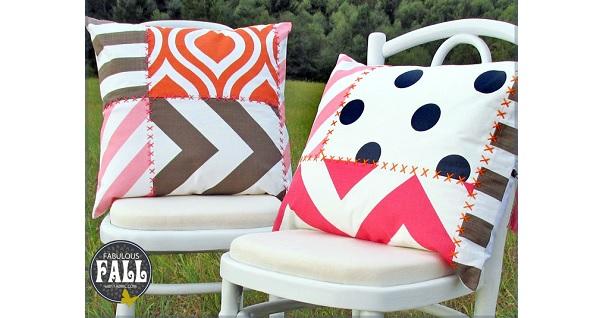 Tutorial: Modern print patchwork throw pillows