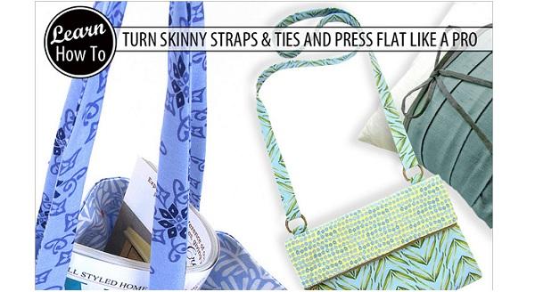 Tutorial: Turning & pressing narrow tubes of fabric