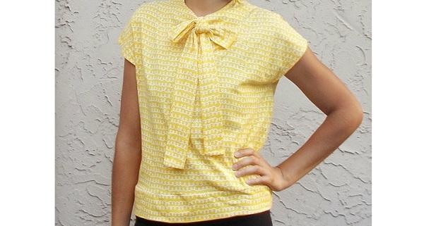 Free pattern: 1940s inspired necktie top