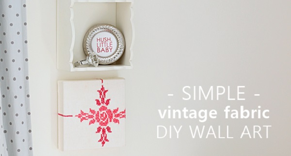 Tutorial: Vintage textiles wall art