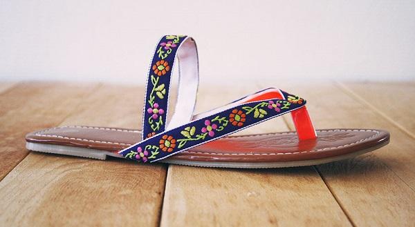 Tutorial: Boho sandals from flip flops
