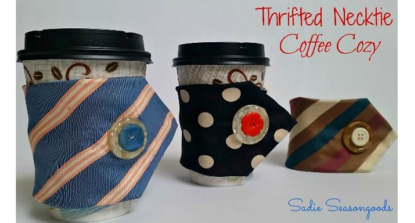 Tutorial: Neck tie coffee cozy