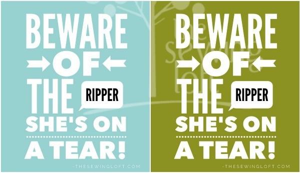 Freebie: Beware of the Seam Ripper