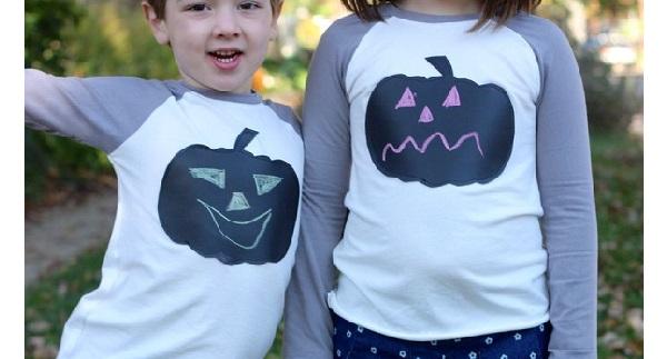 Tutorial: Chalkboard cloth pumpkin t-shirts