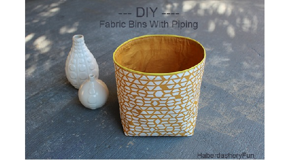 Tutorial: Fabric storage bins with piping