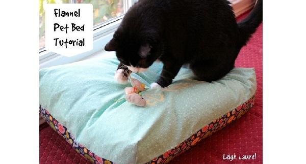 Tutorial: Reversible flannel pet bed