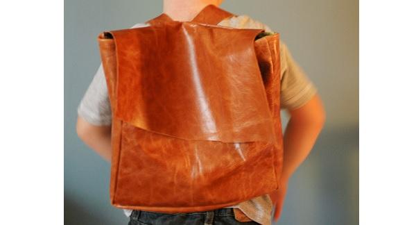 Tutorial: DIY modern leather backpack