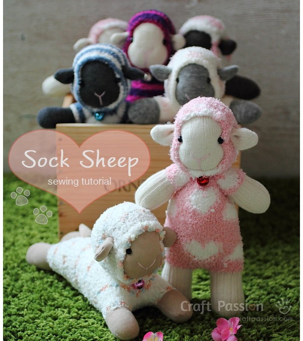 Free pattern: Sock sheep