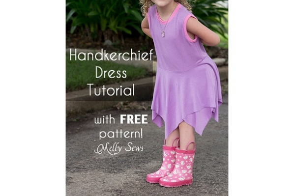 Tutorial: Handkerchief hem play dress for girls