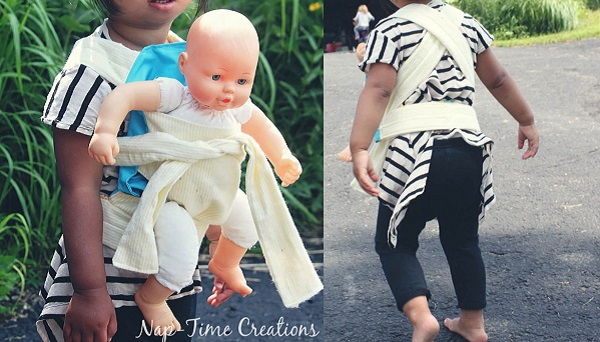 Free pattern: Baby doll carrier wrap