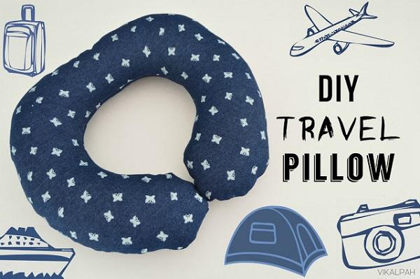 Free pattern: Travel neck pillow