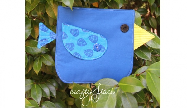 Free pattern: August bluebird hot pad