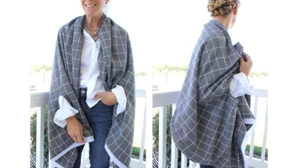 Tutorial: Cape scarf wrap