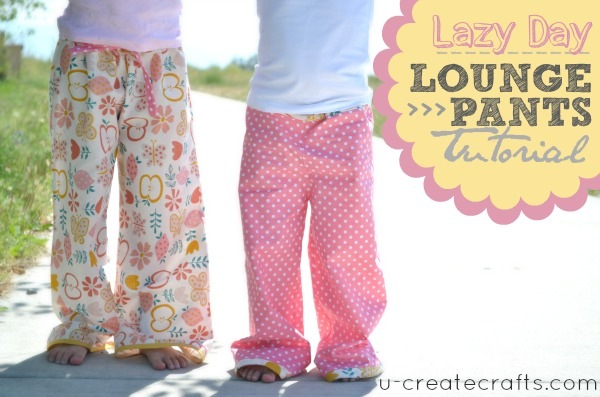 Tutorial: Lazy Day Lounge Pants for kids