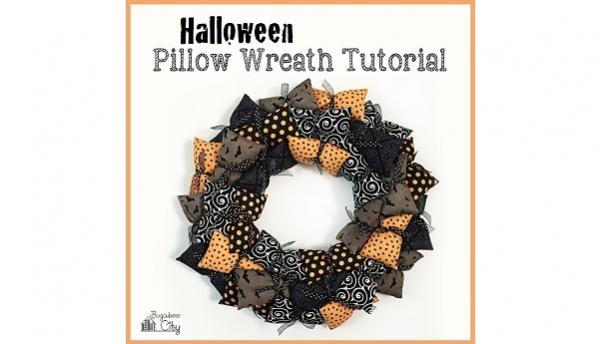 Tutorial: Halloween pillow wreath