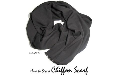 Tutorial: DIY chiffon scarf