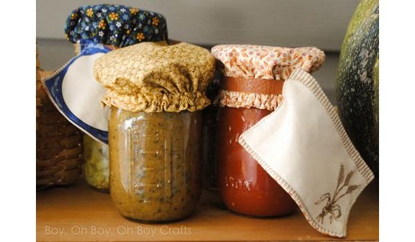 Tutorial: Reusable fabric mason jar covers