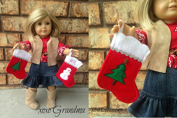 Free pattern: American Girl Christmas Stockings