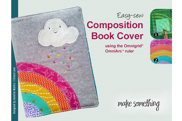 Composition Book Cover Sewing Pattern ~ Tutorial rainbow composition book cover sewing