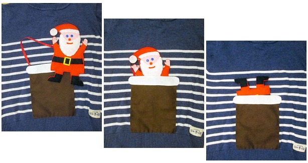 Tutorial: Interactive Santa applique for a Christmas shirt