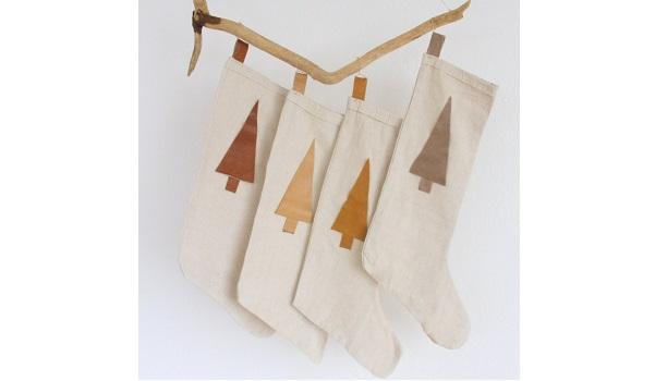 Tutorial: Drop cloth Christmas stockings