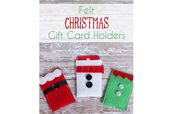 Tutorial: Cute Christmas felt gift card holders