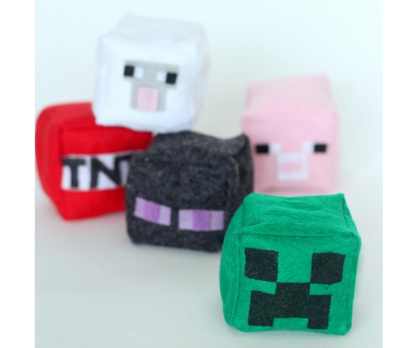 Tutorial: Easy Minecraft cube plushies