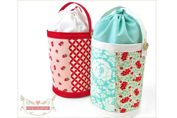Tutorial: Fabric bucket with a drawstring top