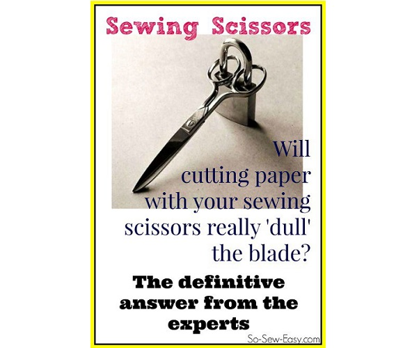 Does cutting paper dull your fabric scissors?